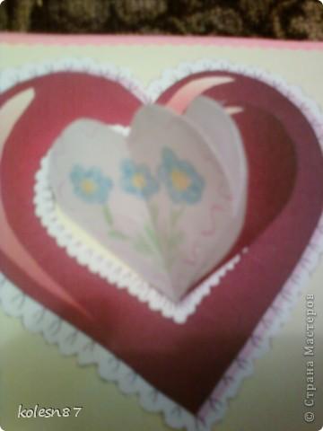 вдохновившись работами сделала вот такую валентинку для сестры фото 3