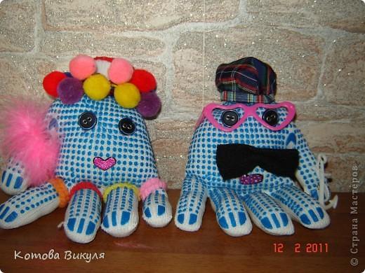 Осьминоги из перчаток