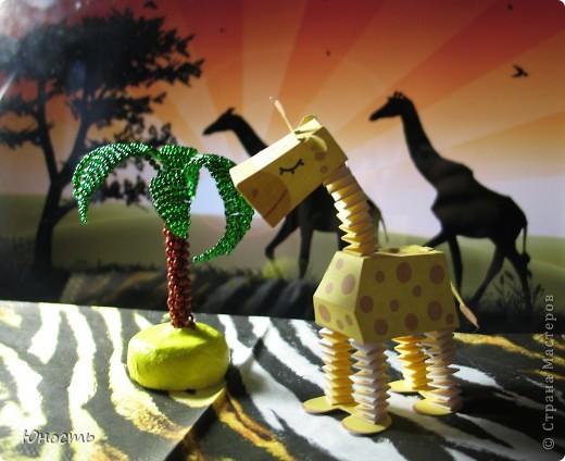Слоненок и жираф. Выкройки распечатаны на цветном принтере, склеены клеем-карандашом. фото 4