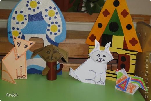 Персонажи для  сказки в технике оригами