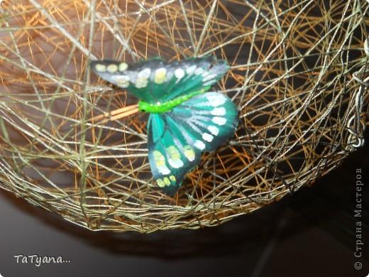 Наша люстра))) дополнили ее бабочки купленные в цветочном магазине. фото 2