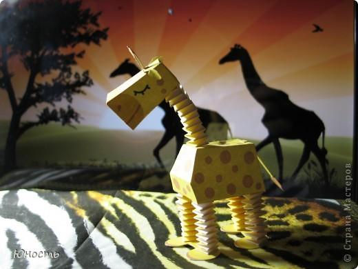 Слоненок и жираф. Выкройки распечатаны на цветном принтере, склеены клеем-карандашом. фото 6