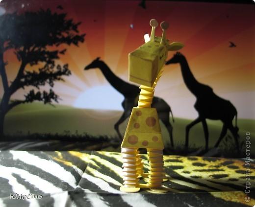 Слоненок и жираф. Выкройки распечатаны на цветном принтере, склеены клеем-карандашом. фото 5