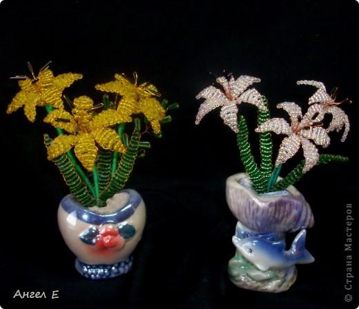 Поделка изделие Бисероплетение Цветы из бисера Бисер фото 4.