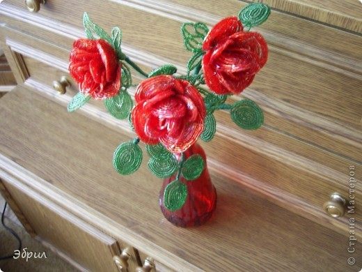 Роза из бисера.Французская техника. фото 2