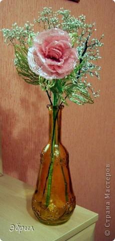 Роза из бисера.Французская техника. фото 1