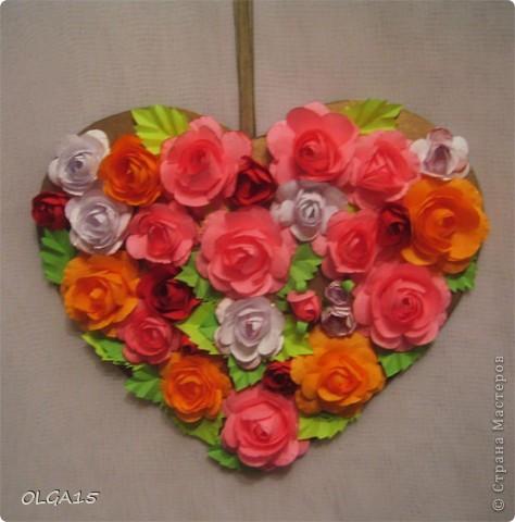 Цветочное  сердечко. фото 1