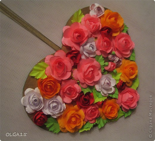Цветочное  сердечко. фото 2