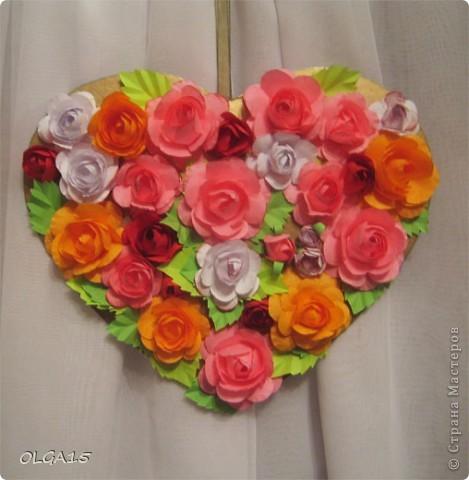 Цветочное  сердечко. фото 3