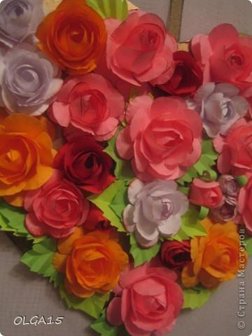 Цветочное  сердечко. фото 5