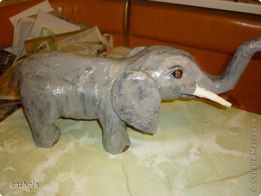 1.Изготовление слона заняло у меня  7 дней. Для начала я варю клейстер,из муки и воды фото 14