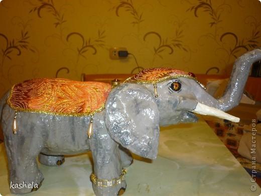 1.Изготовление слона заняло у меня  7 дней. Для начала я варю клейстер,из муки и воды фото 16