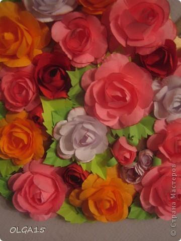 Цветочное  сердечко. фото 8