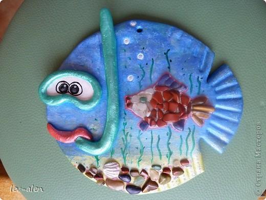 Еще одна реинкарнация рыбки-дайвера. Он ищет в морских глубинах драгоценных рыбок редких пород. :)) фото 6
