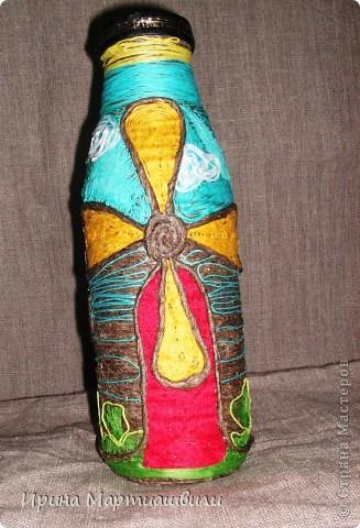 Бутылка с мельницами фото 1