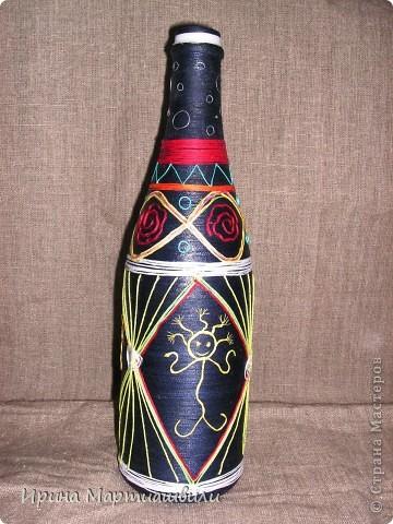 Бутылка с танцующими человечками фото 2