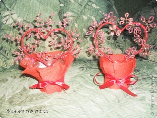 Маленькие деревца сплела на Валентинов День!!! фото 1
