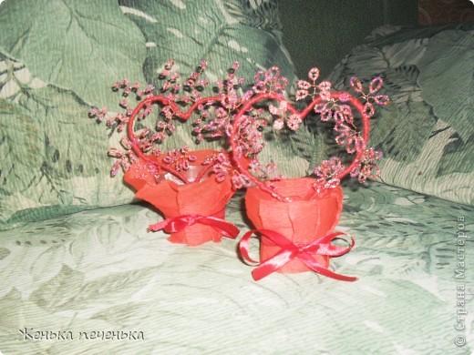 Маленькие деревца сплела на Валентинов День!!! фото 2