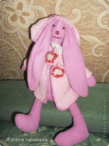 Вот такой тильдо - заяц получился у меня из старенькой кофточки моей дочи фото 3