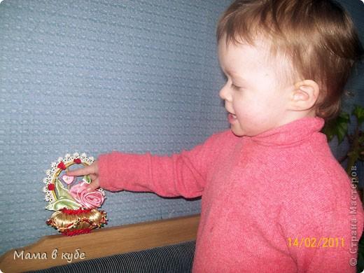 Такую корзиночку сделала в подарок на день святого Валентина для свекромамы))). Пахнет вишневым пирогом! фото 3