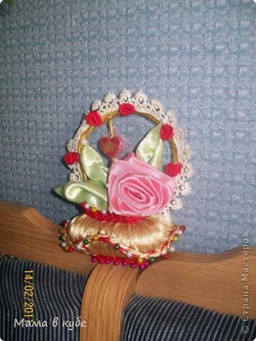 Такую корзиночку сделала в подарок на день святого Валентина для свекромамы))). Пахнет вишневым пирогом! фото 1