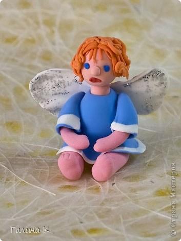 Такие несложные ангелочки слепились из массы для лепки. фото 3