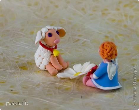 Такие несложные ангелочки слепились из массы для лепки. фото 5