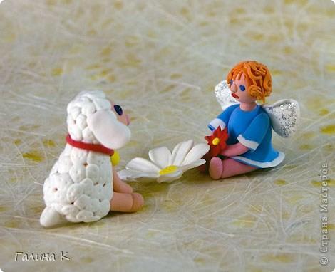 Такие несложные ангелочки слепились из массы для лепки. фото 6