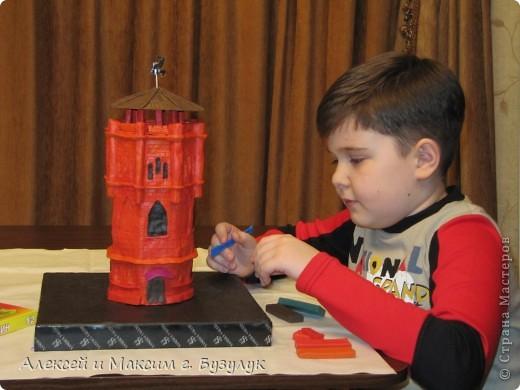 Макет символа г. Бузулука  - старинной водонапорной башни. фото 3