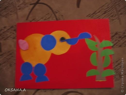 Эти аппликации сделала моя старшая дочка Валерия. Этот слоник из сердечек - подарок на день Валентина.   фото 5