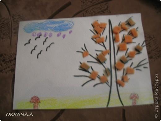 Эти аппликации сделала моя старшая дочка Валерия. Этот слоник из сердечек - подарок на день Валентина.   фото 9