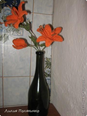 Вот такие лилии связались для моей мамочки фото 7