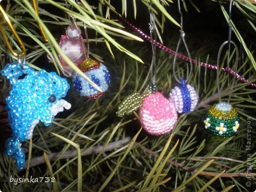 Елочные игрушки из бисера фото 2