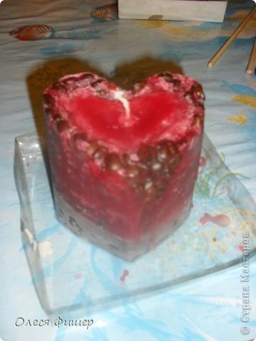 Свеча сердце - к дню всех влюбленных! МК фото 15