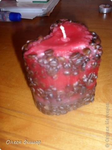 Свеча сердце - к дню всех влюбленных! МК фото 19