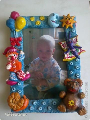 Делала рамочку для фотографии племянника фото 1