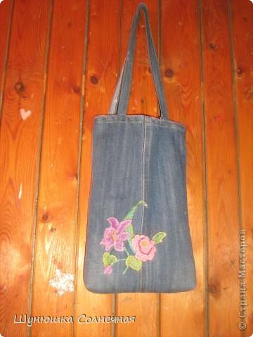 джинсовая сумка фото 1