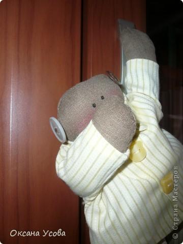 Мистер Доброе Утро. (Сшит по выкройке Тильда-снеговик, только без носика)  фото 1