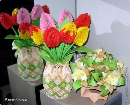 Тюльпаны в вазе фото 3