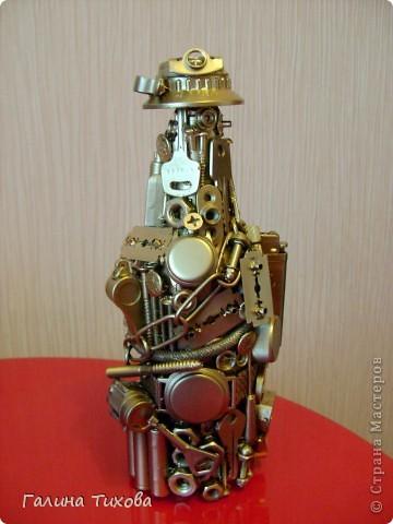 "Декор бутылок ""Из того, что было"".  Мастер-класс: http://masterica.maxiwebsite.ru/archives/52#more-52 фото 2"