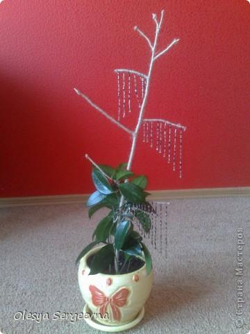 Украшение для домашнего цветка в горшке фото 1