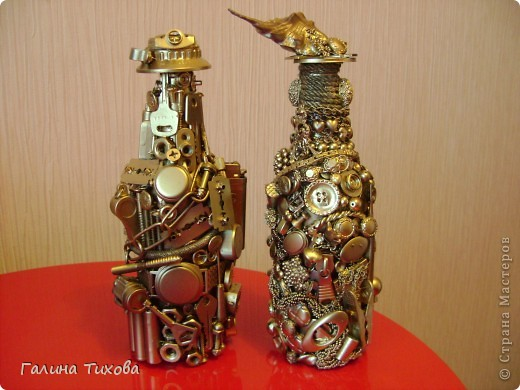 "Декор бутылок ""Из того, что было"".  Мастер-класс: http://masterica.maxiwebsite.ru/archives/52#more-52 фото 1"