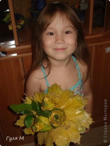 Цветок из листьев фото 2