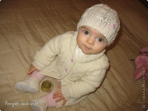 Пальтишко и шапочка для моей любимой доченьки фото 2