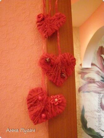 Вот такие сердечки я развешала по всей квартире в день Св.Валентина!!! фото 1