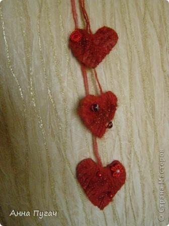 Вот такие сердечки я развешала по всей квартире в день Св.Валентина!!! фото 2