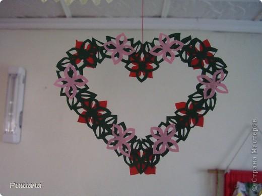 Украшение к Дню Валентина, висит на люстре. фото 2