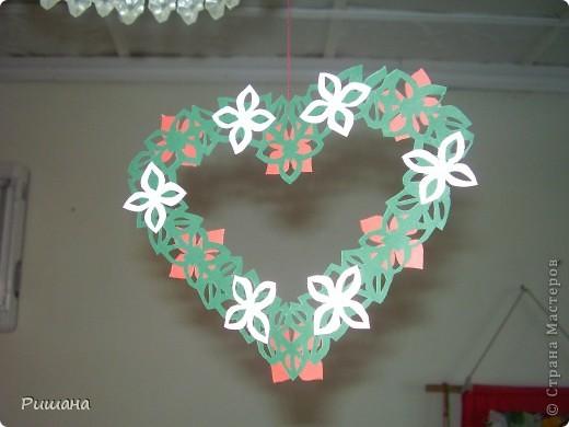 Украшение к Дню Валентина, висит на люстре. фото 1