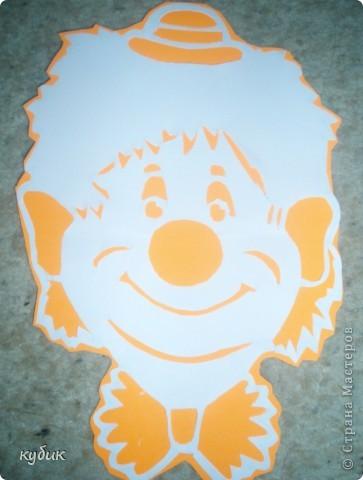 вот таких мы сделали клоунов, шаблоны нашли где-то в интернете фото 3