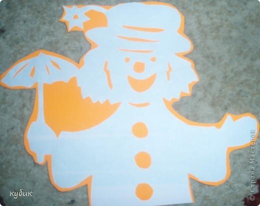 вот таких мы сделали клоунов, шаблоны нашли где-то в интернете фото 4